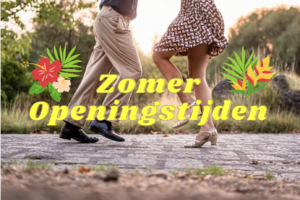 aangepasten Openingstijden zomer danswinkel den haag